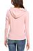 Pink Cotton V Neck Patchwork Plain Long Sleeve Hoody