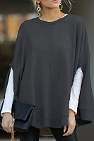Cloak-style loose sleeves loose casual round neck T-shirt