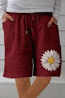 Elasticated Casual Printed Shorts