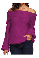 Off Shoulder  Loose Fitting  Plain Sweaters
