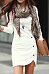 Round Neck Plain Decorative Button Slit Bodycon Dress