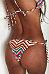 Spaghetti Strap  Striped Bikini