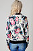 Band Collar  Zipper  Floral Printed Jackets