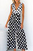 Deep V Neck  Dot  Sleeveless Jumpsuits