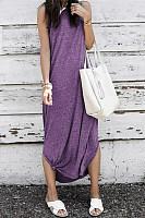 Sleeveless Slit Casual Dresses
