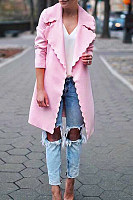 Halter  Plain  Basic Trench Coat