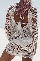 Decorative Lace  Plain Cover Ups