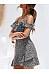 Spaghetti Strap  Print  Short Sleeve Skater Dresses