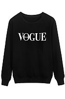Round Neck Patchwork Letters Hoodies Sweatshirts
