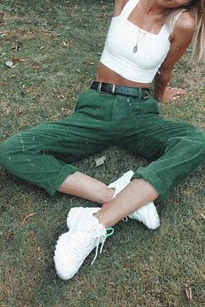 Long  Basic  Plain  Pants