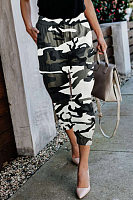 Women Casual Camouflage Cropped Pants