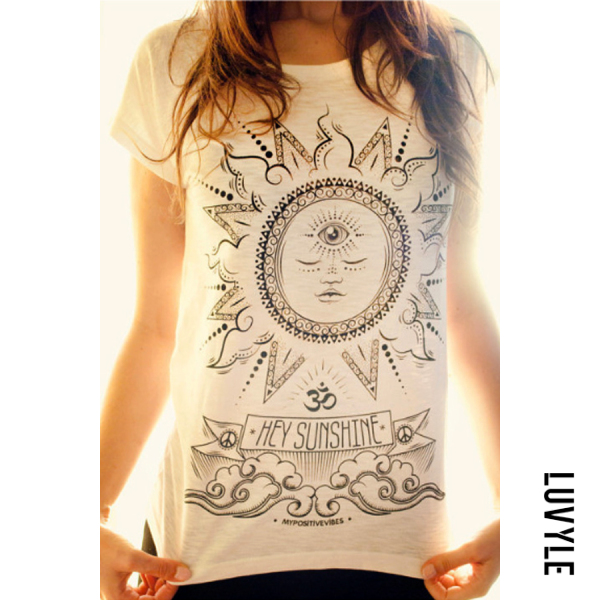 White Round Neck Plain Print T-Shirts White Round Neck Plain Print T-Shirts