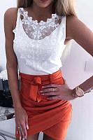 Sexy Plain Lace Shoulder Out Blouse