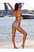 Spaghetti Strap  Color Block Bikini