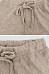 Plain Linen Basic Pants