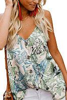 Spaghetti Strap  Floral Printed Camis