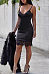 Spaghetti Strap   Lace  Hollow Out   Bodycon Dresses