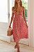 Spaghetti Strap  Floral Printed  Sleeveless Maxi Dresses