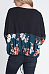 Round Neck  Floral Printed Patchwork T-Shirts