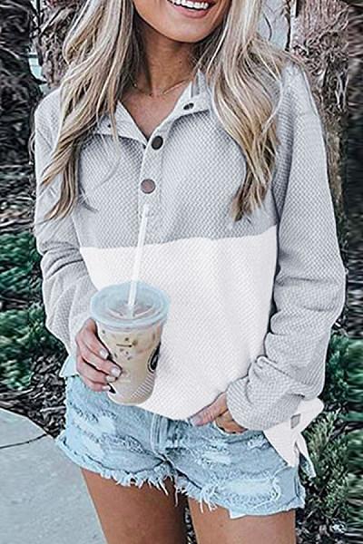 Colouring Long Sleeve Casual Sweatshirt