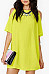 Cutout  Plain Casual Dresses