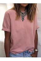 Fashion Round Neck Short Sleeves T-Shirt
