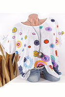 Round Neck Short Sleeve Printed T-shirt