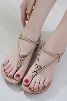 Flat  Beach  Summer  Plain  Sandals
