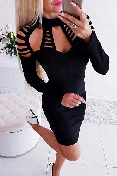 High Stretch  Plain Bodycon Dresses