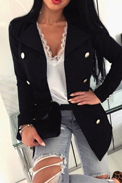 Women Fashion Plain Outerwear