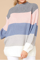 Simple Striped Loose Pullover