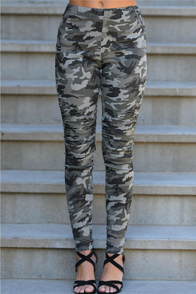 Long  Basic  Camouflage  Pants