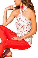 Halter  Backless  Floral Printed Camis