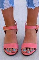 Plain  Low Heeled  Velvet  Peep Toe  Casual Date Wedge Sandals