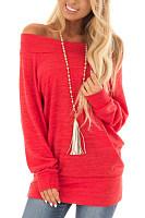 Open Shoulder  Plain  Sweatshirts