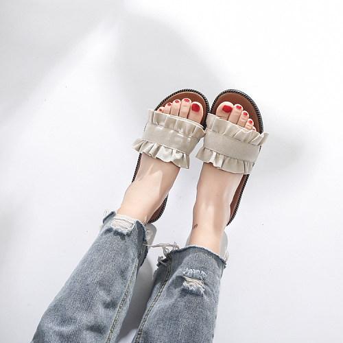 Fashion Pure Color Flat Shoes