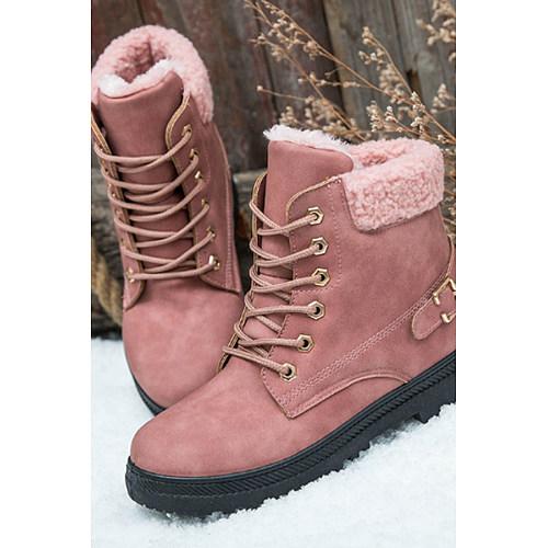 Plain  Flat  Velvet  Criss Cross  Round Toe  Date Outdoor  Short Flat Boots