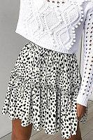 Elastic Waist  Printed Skirts
