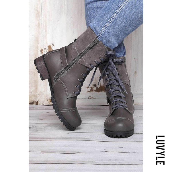 Vintage Casual Round Toe Boots - from $56.00