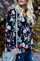V Neck  Floral Printed  Bell Sleeve Blouses