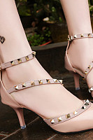 Decorative Hardware  Color Block Heels