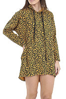 Hooded  Drawstring  Leopard Printed Hoodies