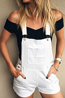Plain  Sleeveless  Basic  Playsuits