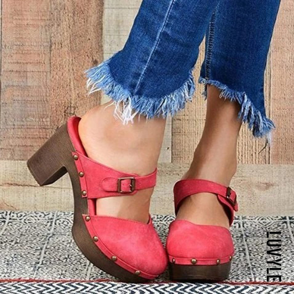 Women's fashion chunky heels