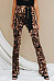 Leopard Printed  Casual Pants