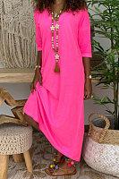Casual Loose Mid-length Dress
