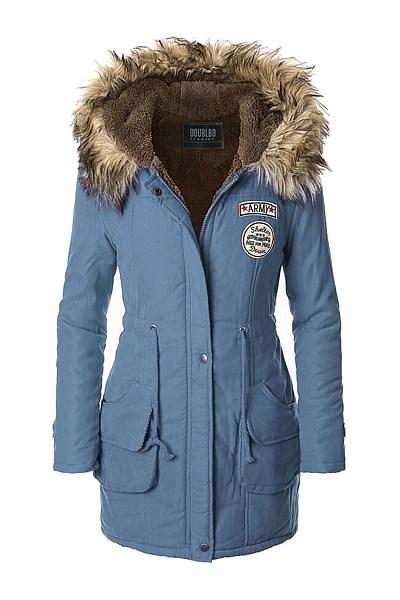 Comfortable Hooded Pocket Fleece Lined Padded Coat