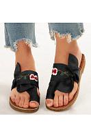 Women's comfortable flat slippers
