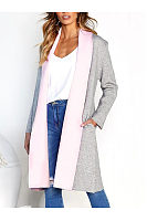 Loose Fitting Snap Front  Patchwork Cardigans