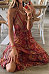 Women's Bohemian Holiday Sling Print Dress
